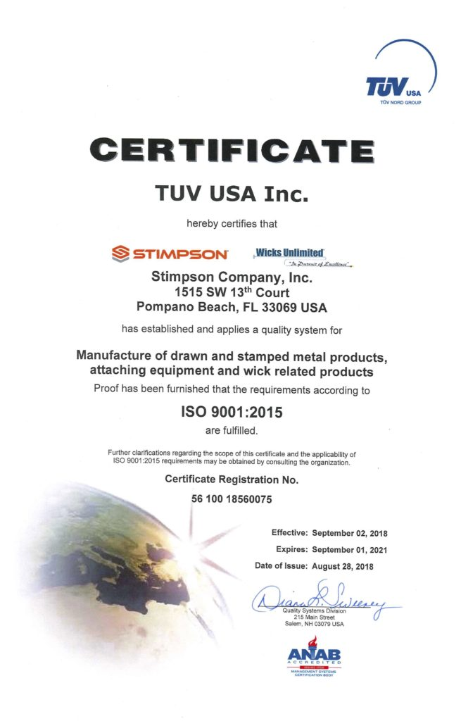 Candle ISO Certification